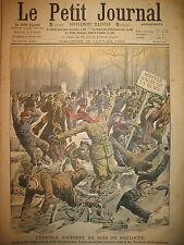 LAC DU BOIS DE BOULOGNE PATIN A GLACE PATINEURS ACCIDENT LE PETIT JOURNAL 1908