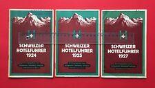 3 x Schweizer Hotelführer 1924/25/27 Schweizer Hotelier Verein Basel ( F18402