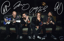 COLDPLAY ENTIRE GROUP AUTOGRAPH SIGNED PP PHOTO POSTER