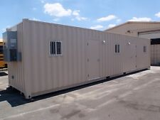 Portable office built custom from 40 foot shipping container with HVAC