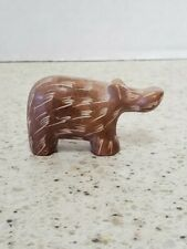 Mini Hippo -carved rock figurine- 2 1/2 Inches