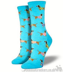 Women Socksmith Haute Dog Dachshund socks Sausage Dog lover gift stocking filler