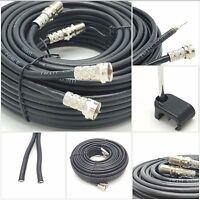 50m Black twin shotgun Satellite Extension Coax cable for Sky HD Q / Freesat