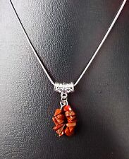 """ARIES RED JASPER ZODIAC PENDANT ON 16"""", 18"""" OR 20"""" SILVER PLATED CHAIN"""