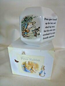 Wedgewood Peter Rabbit Hexagonal money box (boxed )