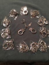 Keyring Key Chain Mini Handcuffs W/ Keys LOT OF 12.