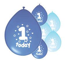 "20 X 1ST BIRTHDAY BOY BALLOONS ""1 TODAY"" FIRST BIRTHDAY BALLOONS BLUE MIX"