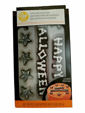 Happy Halloween Webs Bones Royal Icing Decorations Wilton