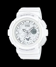 BGA-195-7A Weiß Casio Baby-G Damenuhren Analog Digital Resin Band Neu