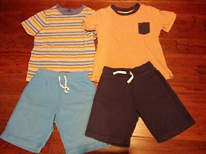 Hanna Andersson 2 T-shirts and 2 Shorts LOT Boys Size 120 6-7 Years