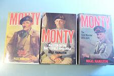 MONTY. 3 Volume Set. Nigel Hamilton. 1981-1986. Hamish Hamilton.