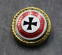 WWII German Army Iron Cross Badge Cap Emblem Pin Back Military Order Award Medal
