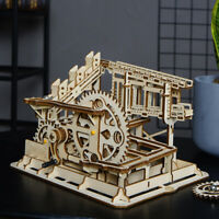 Robotime DIY Mechanical Model Building Kits Wooden Marble Run Cog Coaster Toy