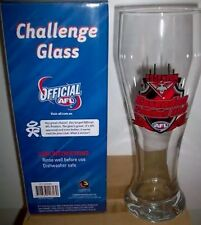 AFL ESSENDON BOMBERS CHALLENGE GLASS FOOTBALL BOXED 25CM New