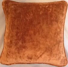 A 16 Inch cushion cover in Laura Ashley Caitlyn Copper Velvet Fabric