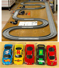 1993 UNUSED TYCO TCR Slotless Slot Car Total Control RACE SET 20ft + 6 Vehicles!