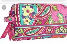 NWT Vera Bradley Small Cosmetic Pink Swirls Pouch Case Travel