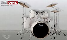 Batteria Pearl VISION VML 925 Maple WHITE Glacier Ltd 100% in ACERO CANADESE