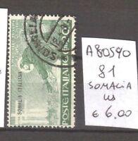 FRANCOBOLLI COLONIE SOMALIA USATI N. 81 (A80590)