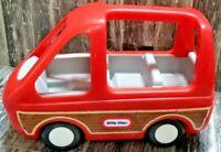 vintage Little Tikes family Dollhouse Sized Red Minivan Van doll house caravan