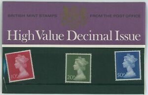 G.B. BRITISH POST OFFICE MINT PRESENTATION STAMP PACK HIGH VALUE DECIMAL 1970