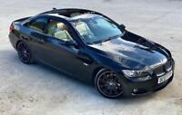 2007 07 BMW 325I M SPORT COUPE 2.5 PETROL HIGHLINE BLACK AUTO E92