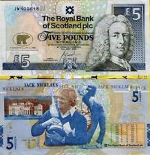 Jack Nicklaus £ 5 (cinco libras) Nota En Perfecto Estado