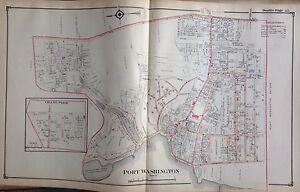 1914 E BELCHER HYDE ATLAS MAP PORT WASHINGTON NASSAU COUNTY LONG ISLAND NEW YORK