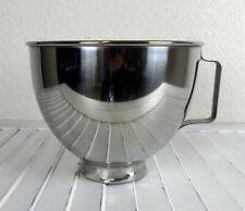 Kitchenaid Mixer Bowl K45 4.5 Qt. Stainless Steel Twist Lock With Handle.