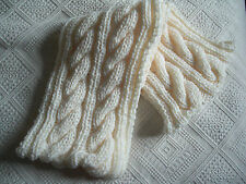 Luxury Cream infinity cowl/scarf cosy handknitted Brand New