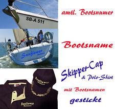 Bootsnummer backbord und steuerbord