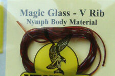 2m MAGIC GLASS MARRON gammare nymph peche stretch mosca fly tying