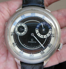 OMEGA Manual Wind Wrist Watch SWISS, Military Regulateur Model, WWI Art Decor