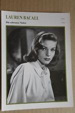(S40) STARFILMKARTE - Lauren Bacall - Die schwarze Natter