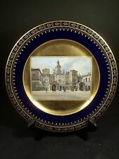 Rare Antique Royal Vienna Porcelain Hand Painted Topographical Plate