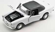 Spedizione LAMPO ALFA ROMEO SPIDER 2600 1960 BIANCO WHITE Welly Modello Auto 1:24 NUOVO