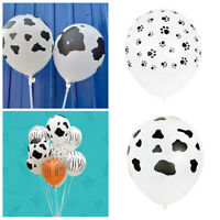 20x Dog Cow Print Latex Balloon Party Wedding Birthday Decor Fashion Vintage