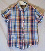 Boys Next Blue White Check Short Sleeve Casual Shirt Age 4-5 Years