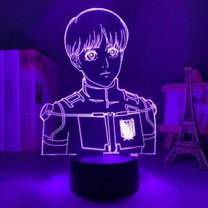 Acrylic Led Night Light Anime Attack on Titan Armin Arlert Face 3D Lamp Bedroom