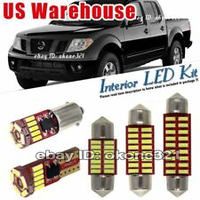 8-pc Luxury White LED Lights Interior Package Kit Fit Nissan Frontier 2005 up