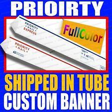 1 X 8 Custom Vinyl Banner 13oz Full Color Free Design Included Rolled