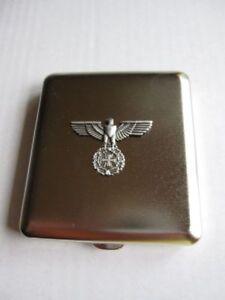 Reichsadler mit Eisernem Kreuz EK Zigaretten Etui Wehrmacht WW2 WK2 Iron Cross