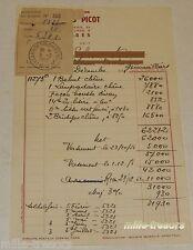 FACTURE de 1951 : Les MEUBLES PICOT - Tapis - Lustres - Décoration - COLOMBES 2