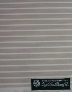 Loro Piana Tessuto cotone beige a righe camicia 2 m