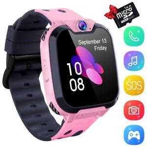 Kind MP3 Telefon Uhr Kinder Music Smartwatch mit SOS Notruf Touchscreen Mädchen