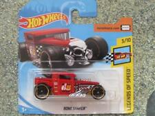 Hot Wheels 2018 #122/365 BONE SHAKER red HW Legends of speed