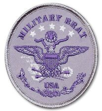 *MILITARY CHILD (BRAT) OVAL SEW ON PATCH/DOD JOINT SERVICES PURPLE