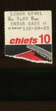 Ticket Football Kansas City Chiefs 1972 12/3 Denver Broncos Floyd Little HOF