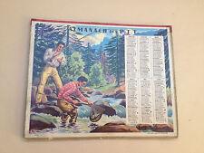 ANCIEN CALENDRIER 1952 Almanach PTT Poste Télégraphe Téléphone Pêche Chasse