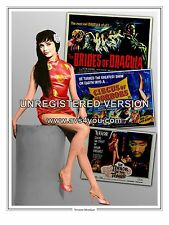 "Yvonne Monlaur Hammer Horror Montage Artwork Tribute 16"" x 12"" Photo Poster"